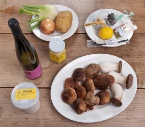 Selbstgemachte Gnocchi mit Pilz- Fenchelragout und Belper Knolle.