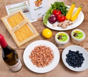 Die TastyBox zum Kochen mit frischen Nordsee-Krabben (Foto: foodieSquare)