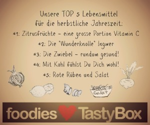 Die TOP 5 der Lebensmittel im Herbst (Bild: foodieSquare)